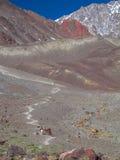 Alpinismo nelle Ande Fotografia Stock Libera da Diritti