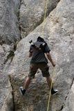 Alpinist - älska fara Arkivbilder