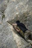 Alpinist - älska fara Arkivfoto