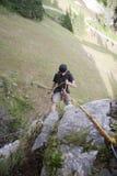 Alpinist - älska fara Royaltyfri Fotografi