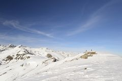 Alpinist на верхней части Стоковые Изображения
