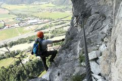 Alpinist Royalty-vrije Stock Fotografie