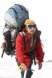 Alpinist. In the Caucasus mountains Royalty Free Stock Photo