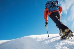 Alpinist Royalty-vrije Stock Afbeelding