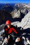 alpinist cadini di misurina Arkivbilder