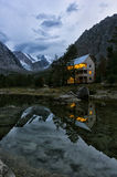 Alpinist camp Aktru Stock Photo