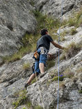Alpinist equipped Royalty Free Stock Photography