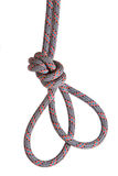 Alpinist knot. Against white background Royalty Free Stock Photo