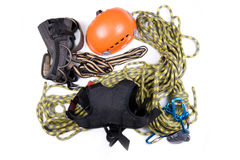 Alpinist, mountain climber, or ropejumper tools Stock Photography