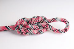 Alpinist rope with node Royalty Free Stock Images
