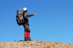 Alpinista. Fotografia Stock