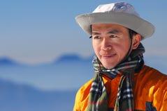 Alpinista asiatico. Fotografie Stock Libere da Diritti