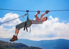 Alpinista della donna Fotografie Stock Libere da Diritti