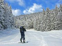Alpinista dello sci al Hirschberg Fotografie Stock