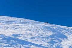 Alpinista dello sci nella scena alpina di inverno Fotografia Stock Libera da Diritti