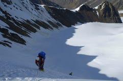 Alpinista em uma sombra Imagem de Stock Royalty Free