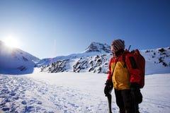 Alpinista femminile Immagini Stock Libere da Diritti