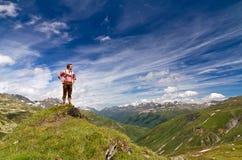 Alpinista fiero Fotografia Stock Libera da Diritti