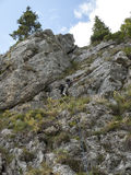 Alpinista fornito Fotografie Stock