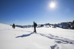 Alpinista fornito inverno Fotografia Stock Libera da Diritti
