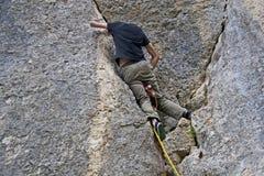 Alpinista - il pericolo amoroso Fotografia Stock Libera da Diritti
