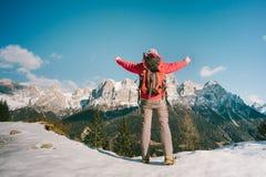 Alpinista maschio felice Immagini Stock