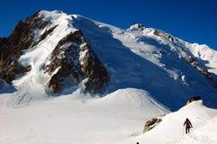 Alpinista Mont Blanc Fotografia Stock