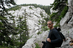 Alpinista/pausa Immagine Stock Libera da Diritti