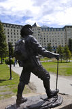 alpinista posąg Fotografia Royalty Free