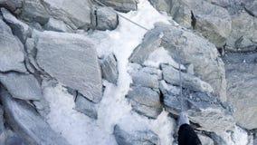 Alpinista POV sulla scalata Fotografia Stock Libera da Diritti