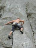 Alpinista, scalatore, alpinista Fotografia Stock Libera da Diritti