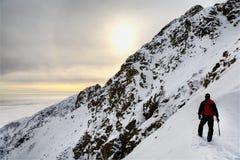 Alpinista solo Immagini Stock Libere da Diritti