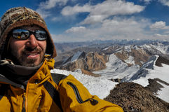 Alpinista w Tajikistan Obraz Stock