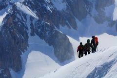 Alpinistas Imagen de archivo libre de regalías