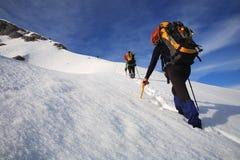 Alpinistas Fotografía de archivo