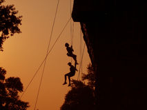 Alpinistas Foto de Stock