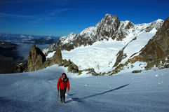 Alpiniste image libre de droits