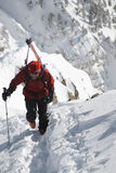 Alpiniste de ski Images stock