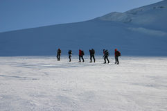 Alpinisten stock foto