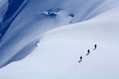 Alpinistes Photographie stock