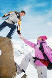 Alpinistes Photo libre de droits