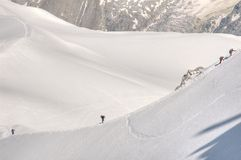 Alpinistes sur une côte Photo libre de droits