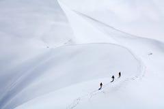 Alpinisti Fotografie Stock Libere da Diritti
