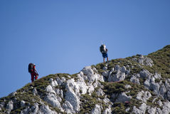 Alpinisti Immagini Stock Libere da Diritti