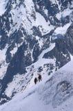Alpinisti in alpi francesi Immagine Stock Libera da Diritti