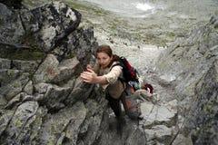 Alpinisti in Slovacchia Immagine Stock Libera da Diritti