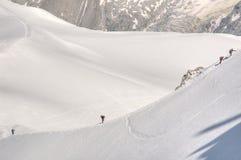 Alpinisti su una collina Fotografia Stock Libera da Diritti