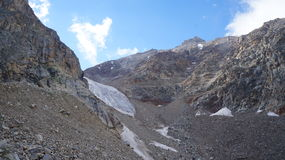 Alpinisti sul ghiacciaio Fotografia Stock Libera da Diritti