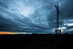 Alpinisti sulla sommità Fotografia Stock