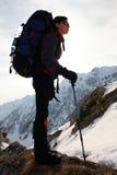 Alpinistmädchen Stockfoto